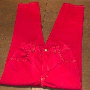 VTG BLAIR L.B. BLUES Red Denim High Rise Jeans 12